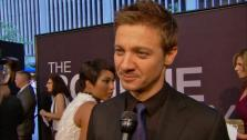 Jeremy Renner talks to reporters at the August 8 premiere of The Bourne Legacy. - Provided courtesy of none / Universal Pictures