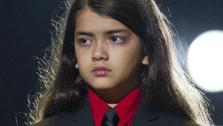 Prince Michael II Blanket Jackson arrives on stage at the Michael Forever the Tribute Concert, at the Millennium Stadium in Cardiff, Wales, Saturday, Oct. 8, 2011. - Provided courtesy of AP / Joel Ryan