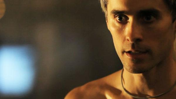 Jared Leto appears in a production still from the 30 Seconds to Mars video for 'Hurricane.'