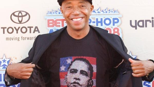 Hip hop mogul Russell Simmons arrives for the taping of BET Hip-Hop Awards 08 at the Atlanta Civic Center on Saturday, Oct. 18, 2008 in Atlanta.