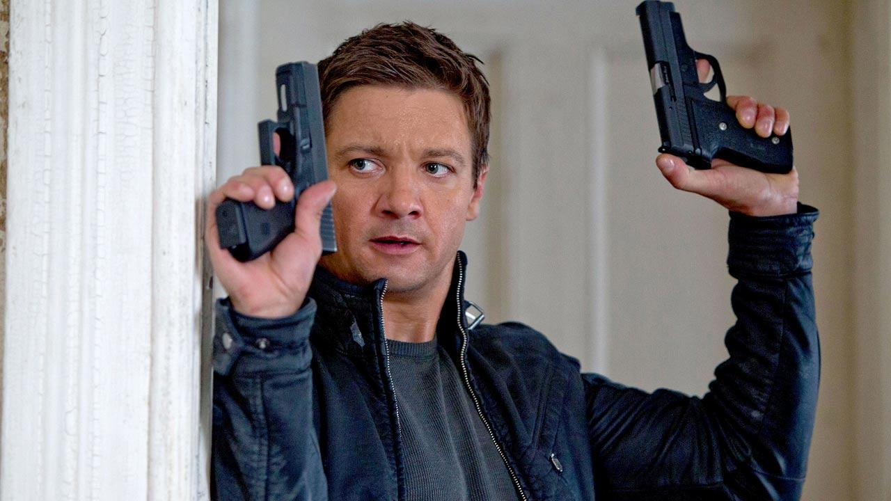 Jeremy Renner appears in a scene from the 2012 film The Bourne Legacy.