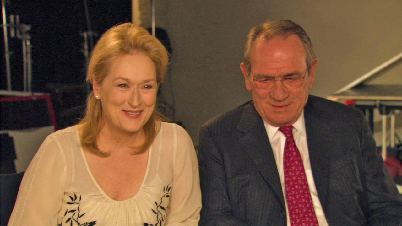 Meryl Streep and Tommy Lee Jones appear in an epk interview for Hope Springs in 2012.