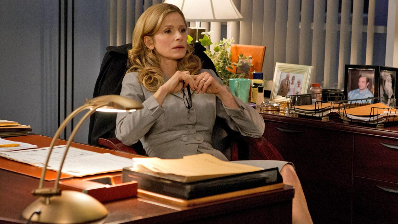 Kyra Sedgwick appears in a scene from a 2012 episode of The Closer.