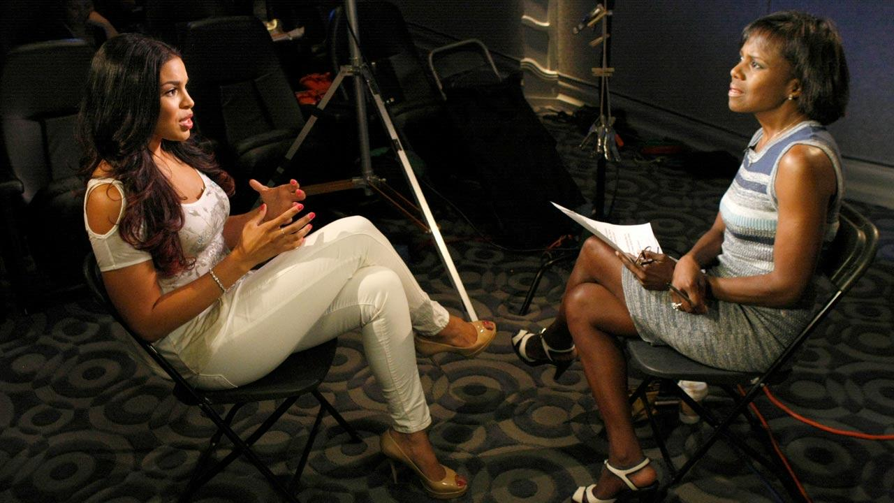 Deborah Roberts interviews Jordin Sparks in a Nightline interview in August 2012.