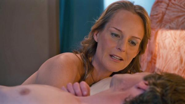 Helen Hunt and John Hawkes appear in the trailer for the 2012 movie 'The Sessions.'