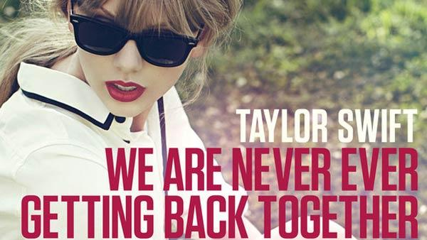 Taylor Swift appears in a promotional photo for her 2012 single, We Are Never Ever Getting Back Together. - Provided courtesy of Big Machine