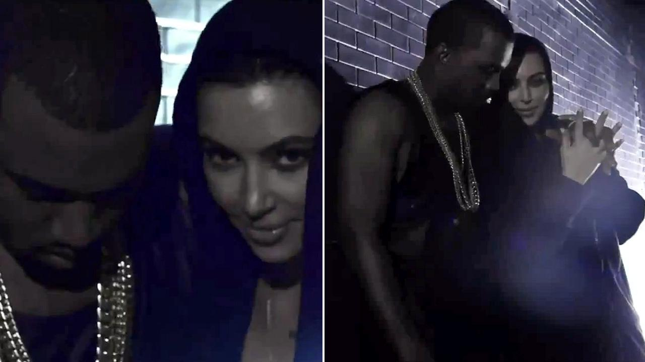 Kim Kardashian and Kanye West appear in the music video for I Wish You Would/Cold release in August 2012.