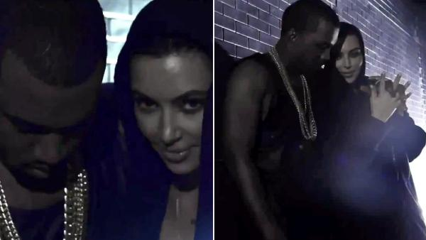 Kim Kardashian and Kanye West appear in the music video for I Wish You Would/Cold release in August 2012. - Provided courtesy of Def Jam