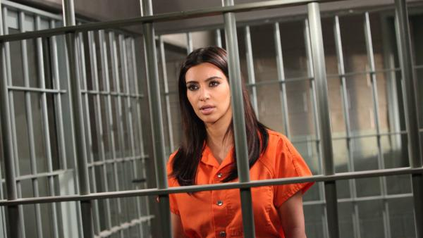 Kim Kardashian appears in a promotional photo for her role on 'Drop Dead Diva' season 4, which airs on August 26, 2012.