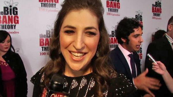 Mayim Bialik talks to OnTheRedCarpet.com on Dec. 15, 2011 at a Los Angeles party to celebrate the 100th episode of CBS series The Big Bang Theory. - Provided courtesy of OTRC