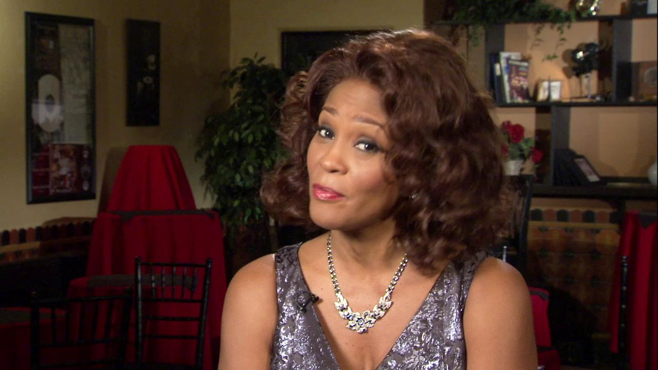 Whitney Houston appears on the set of Sparkle in 2011.