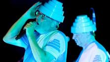 The band DEVO appears in a photo taken by Jeff Ball at the Denver County Fair on July 30, 2011. - Provided courtesy of Jeff Ball / Facebook.com/ClubDEVO