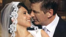 Alec Baldwin and Hilaria Thomas appear in a photo from their July 1 wedding, posted on the actors Twitter page on August 16, 2012. - Provided courtesy of pic.twitter.com/1hTvt6cV