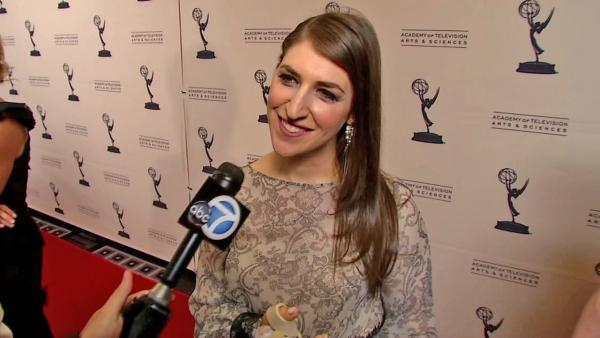 Mayim Bialik talks to OTRC.com at a cocktail reception party for the upcoming 64th Primetime Emmy Awards on August 20, 2012. - Provided courtesy of OTRC