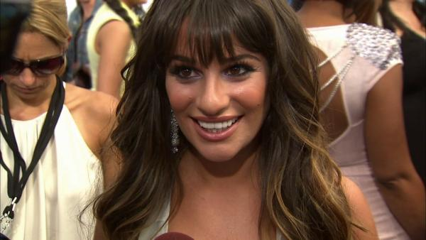 Lea Michele talks to OnTheRedCarpet.com about Glees season 4 at VH1s Do Something! Awards on Aug, 19, 2012. - Provided courtesy of OTRC