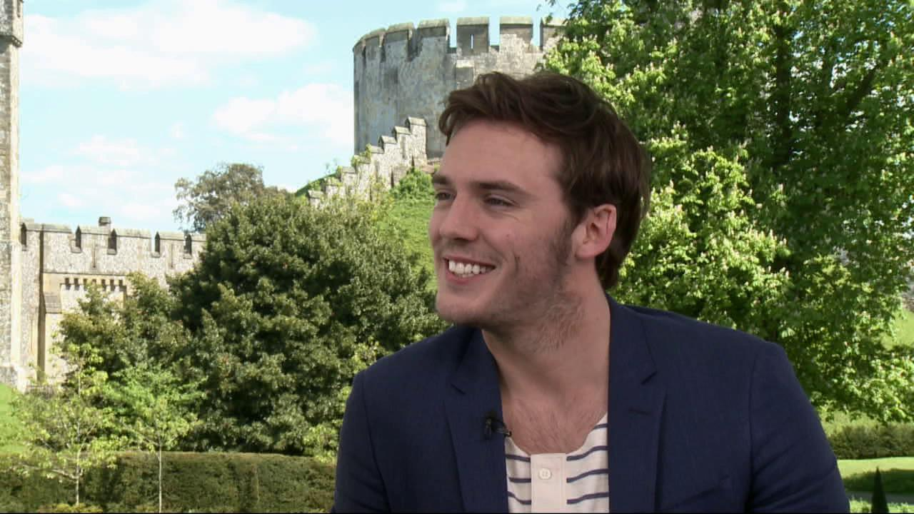 Sam Claflin talks to OnTheRedCarpet.com at a press junket for Snow White and the Huntsman outside of Arundel Castle in West Sussex in the United Kingdom in May 2012.