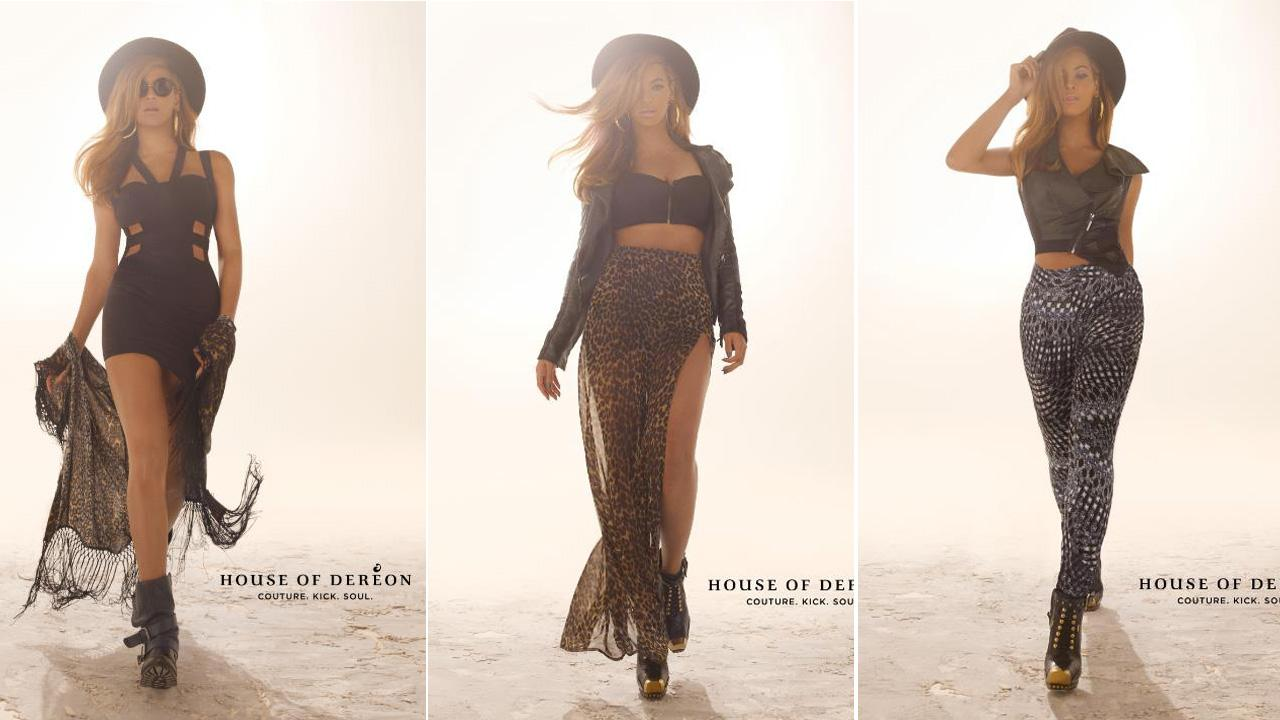 Beyonce appears in a photos for the Fall 2012 campaign for House of Dereon.