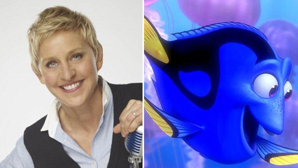 Ellen DeGeneres appears in a promotional photo for Ellen. / Dory appears in a promotional photo for Finding Nemo. - Provided courtesy of Michael Becker /  FOX / Disney Pixar