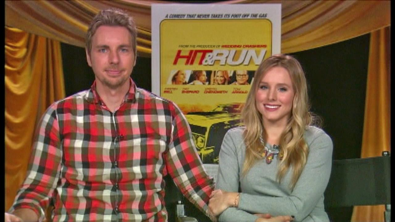 Kristen Bell and Dax Shepard appear in a satellite interview with OnTheRedCarpet.com on August 13, 2012.