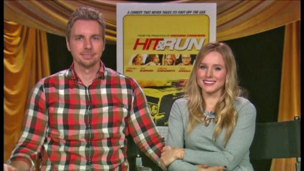 Kristen Bell and Dax Shepard appear in a satellite interview with OnTheRedCarpet.com on August 13, 2012. - Provided courtesy of OTRC