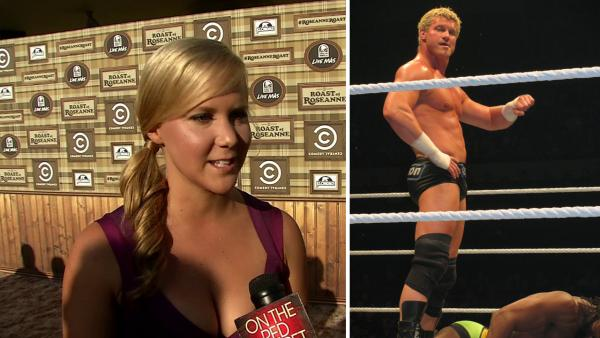 Amy Schumer talks to OnTheRedCarpet.com before a taping of 'The Comedy Central Roast of Roseanne' on Aug. 4, 2012. / Dolph Ziggler appears at a WWE match in Australia on July 4, 2011.