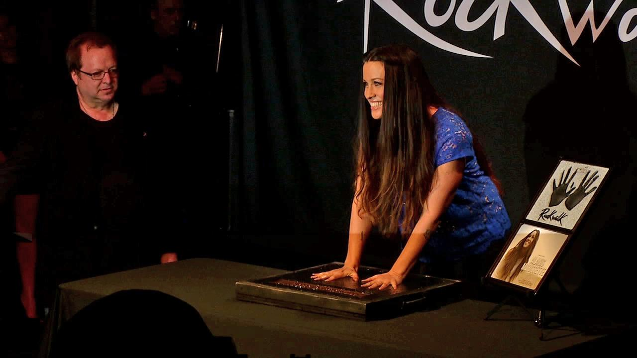 Alanis Morissette was inducted into Guitar Centers Hollywood RockWalk on August 21, 2012.