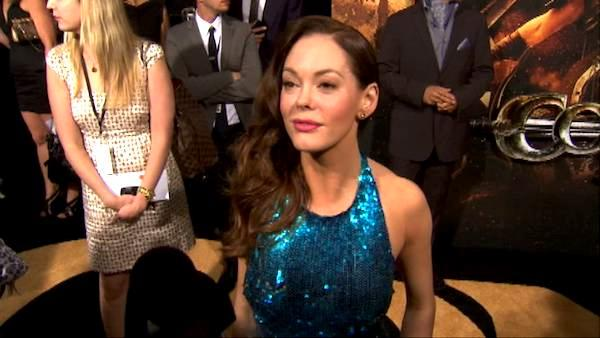 Rose McGowan talks to OnTheRedCarpet.com at the Hollywood premiere of 'Conan the Barbarian.'