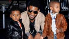 Usher and his sons appear at the Los Angeles premiere of Justin Biebers Never Say Never on August 18, 2011. - Provided courtesy of Facebook.com/usher