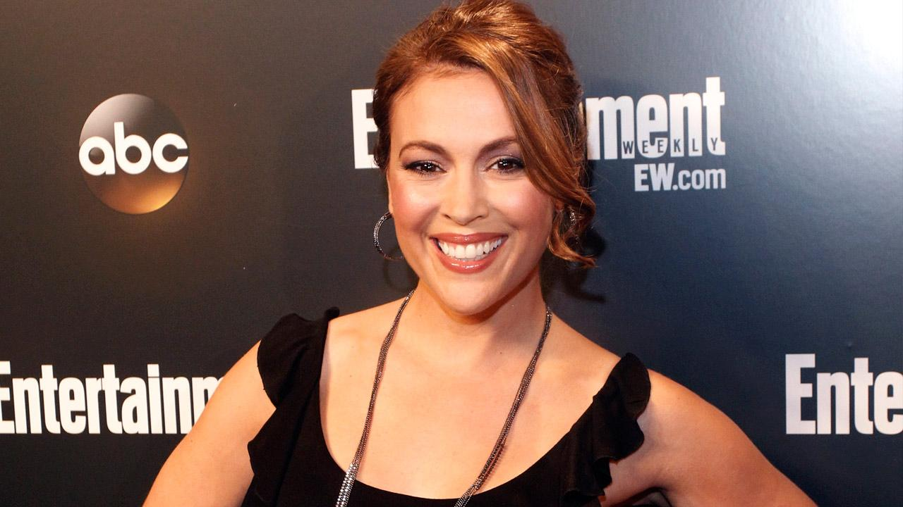Alyssa Milano appears at the ABC upfront announcements at Dream New York on May 16, 2012