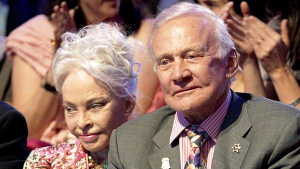 Buzz Aldrin and his wife Lois Driggs Aldrin appear at a May 2, 2011 taping of 'Dancing With The Stars'.