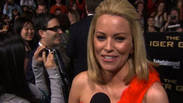 Elizabeth Banks appears at the Los Angeles premiere of 'The Hunger Games' on March 12, 2012.