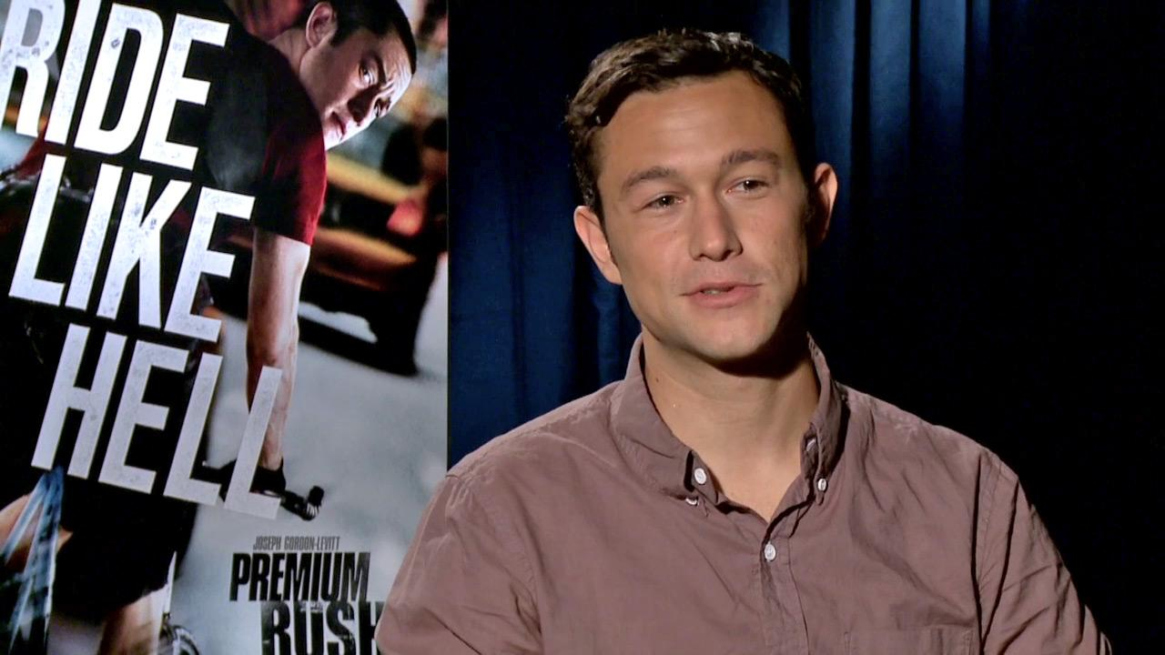 Joseph Gordon-Levitt appear at a press junket for Premium Rush in 2012.