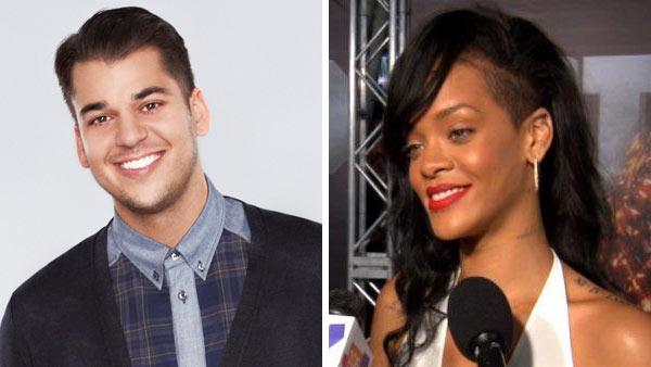 Rob Kardashian appears in a promotional photo for The Choice in 2012. / Rihanna talks to OnTheRedCarpet.com at the premiere of Battleship on May 10, 2012.  - Provided courtesy of Fox / OTRC