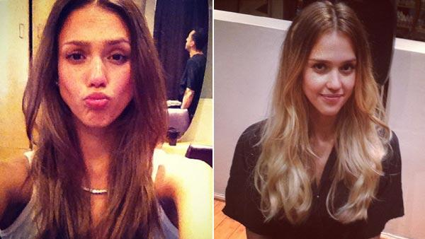 Jessica Alba appears in a photo from her official Twitter page on August 25, 2012.