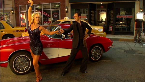 Helio Castroneves, Chelsie Hightower dance before 'DWTS: All-Stars'