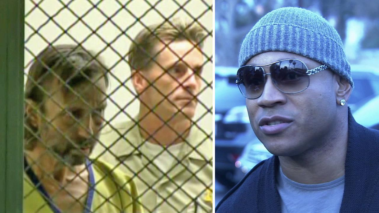 Jonathan Kirby is seen at an arraignment hearing for a first-degree burglary charge in a Van Nuys courtroom on Tuesday, Aug. 28, 2012. / LL Cool J is shown in an undated file photo.