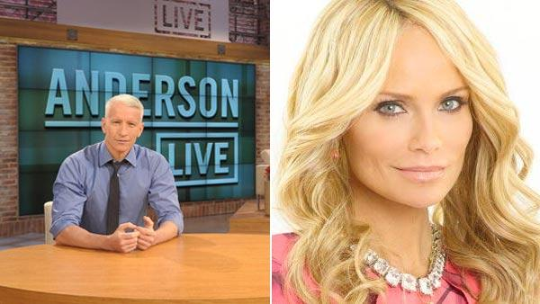 Anderson Cooper appears on the new set of his show Anderson Live in 2012. / Kristin Chenoweth appears in a promotional photo for the first season of GCB in 2011. - Provided courtesy of Andersoncooper.com / ABC