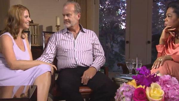 Katye and Kelsey Grammer are interviewed by Oprah Winfrey for an episode of Oprahs Next Chapter in August 2012. - Provided courtesy of OWN / Harpo