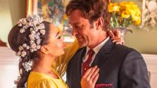 Lindsay Lohan and Grant Bowler appear in an official photo from the Lifetime Original Movie, Liz & Dick. - Provided courtesy of Richard McLaren / Lifetime