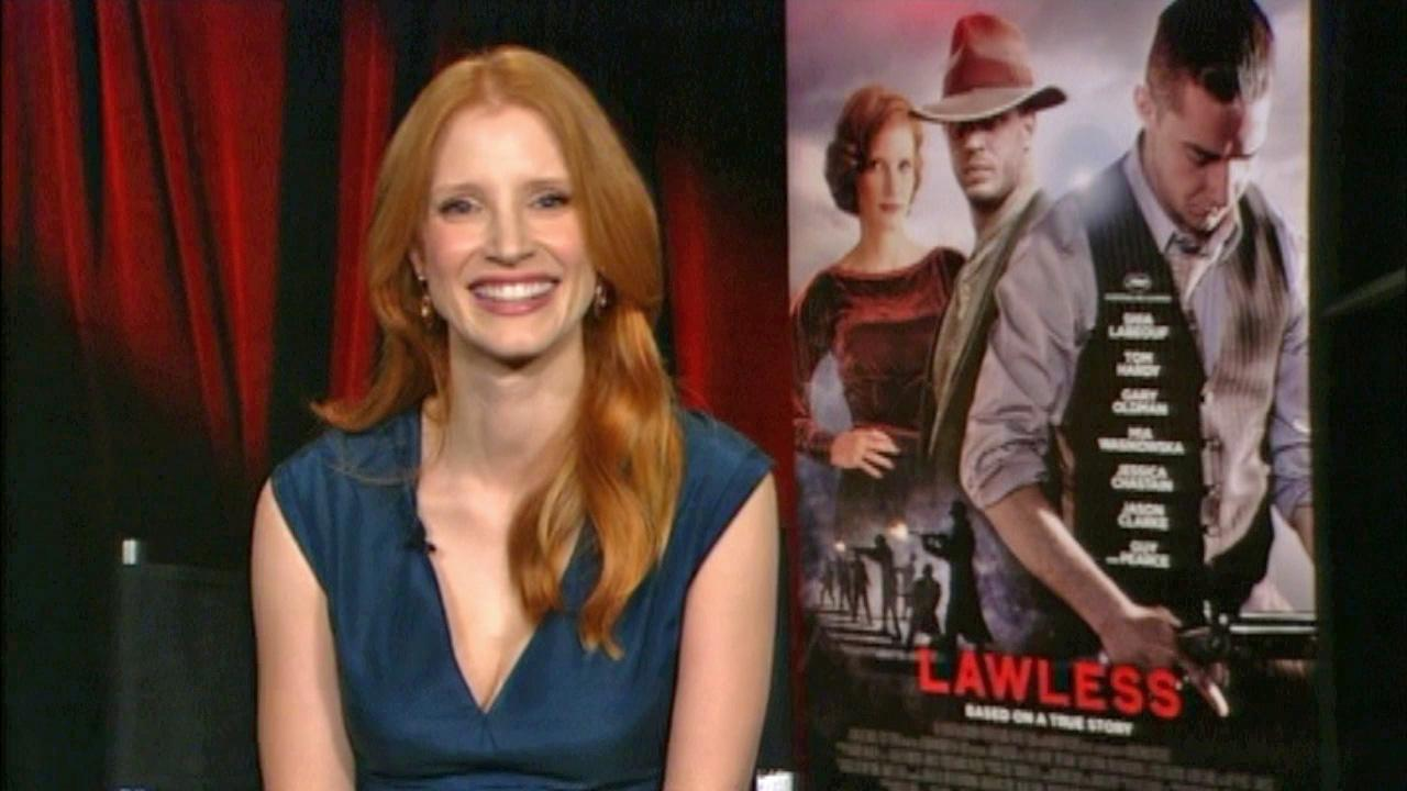 Jessica Chastain talks to OTRC.com in a satellite interview on August 21, 2012.