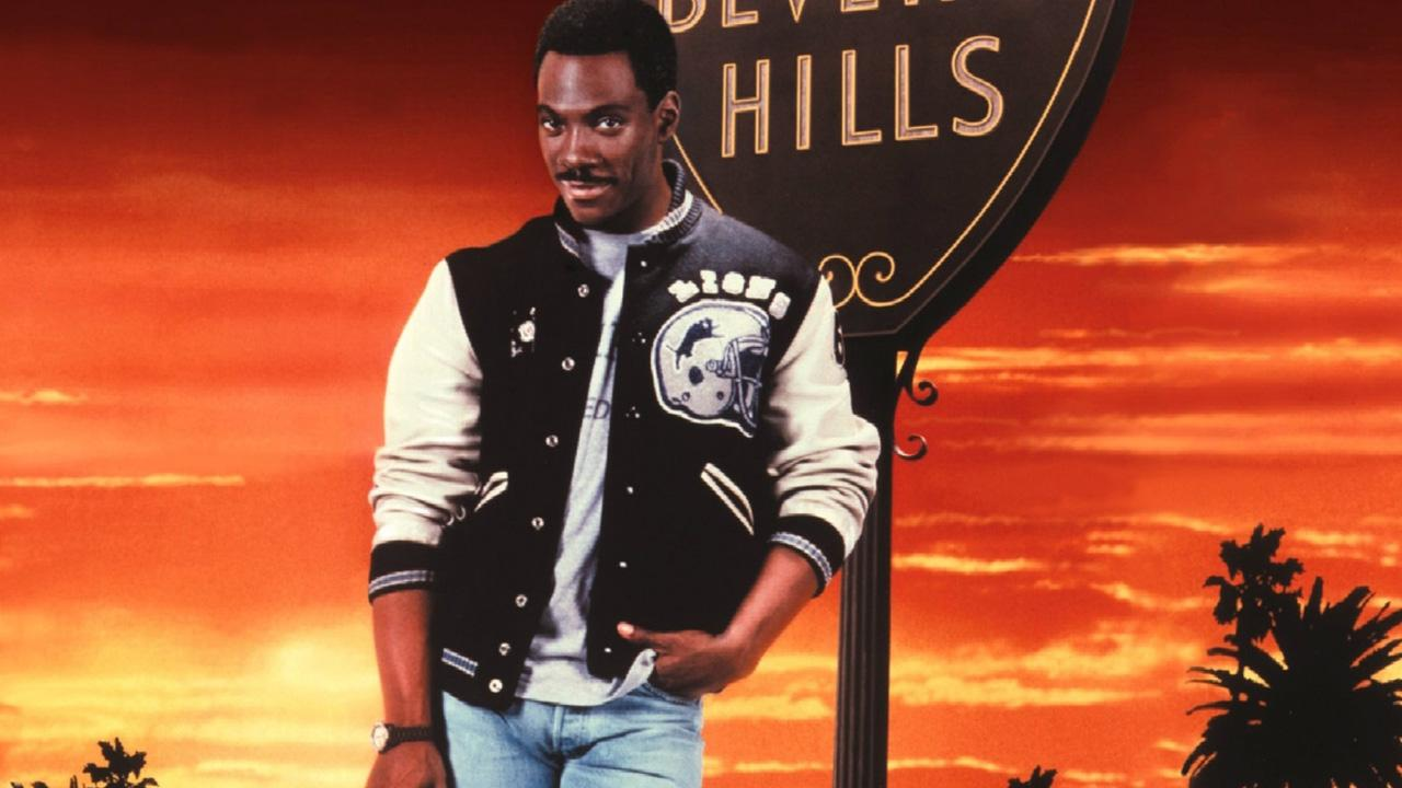 Eddie Murphy appears in a promotional photo for the 1987 movie Beverly Hills Cop II.