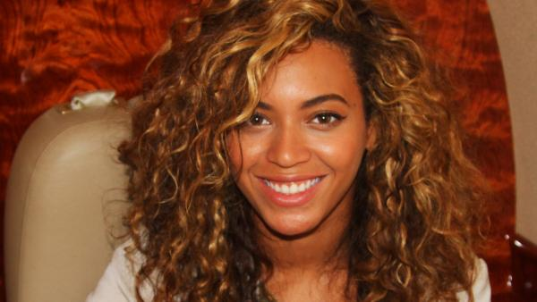 Beyonce appears in an undated photo posted on her Tumblr blog in April 2012.