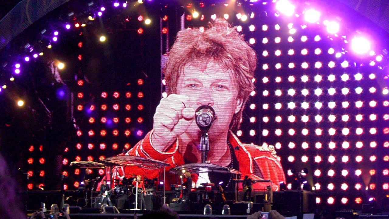 Jon Bon Jovi performs at a Bon Jovi concert in Vienna, Austria in July 2011.