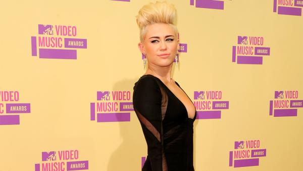 Miley Cyrus appears at the MTV Video Music Awards on Thursday, Sept. 6, 2012. - Provided courtesy of MTV / PictureGroup