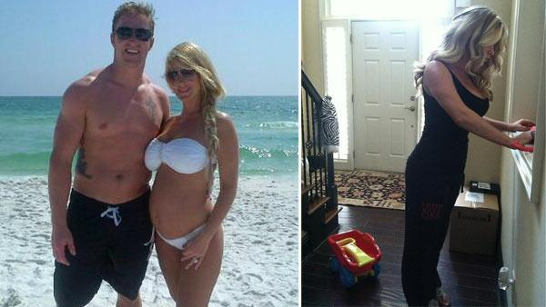 Kim Zolciak and Kroy Biermann appear in a photo posted on the reality stars official Twitter page on August 7, 2012. / Kim Zociak appears in a photo posted on her daughters official Twitter page on September 1, 2012. - Provided courtesy of pic.twitter.com/PEWJLGlM / pic.twitter.com/wLR1fdOu