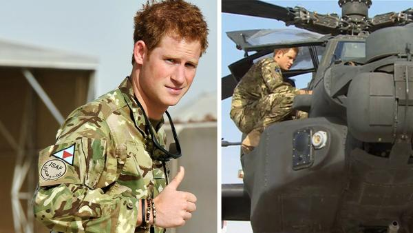Britains Prince Harry gives a thumbs up on Friday Sept. 7, 2012 after he walked past the Apache flight-line at Camp Bastion in Afghanistan, where he will be operating from during his tour of duty as a co-pilot gunner. - Provided courtesy of AP / John Stillwell, Pool