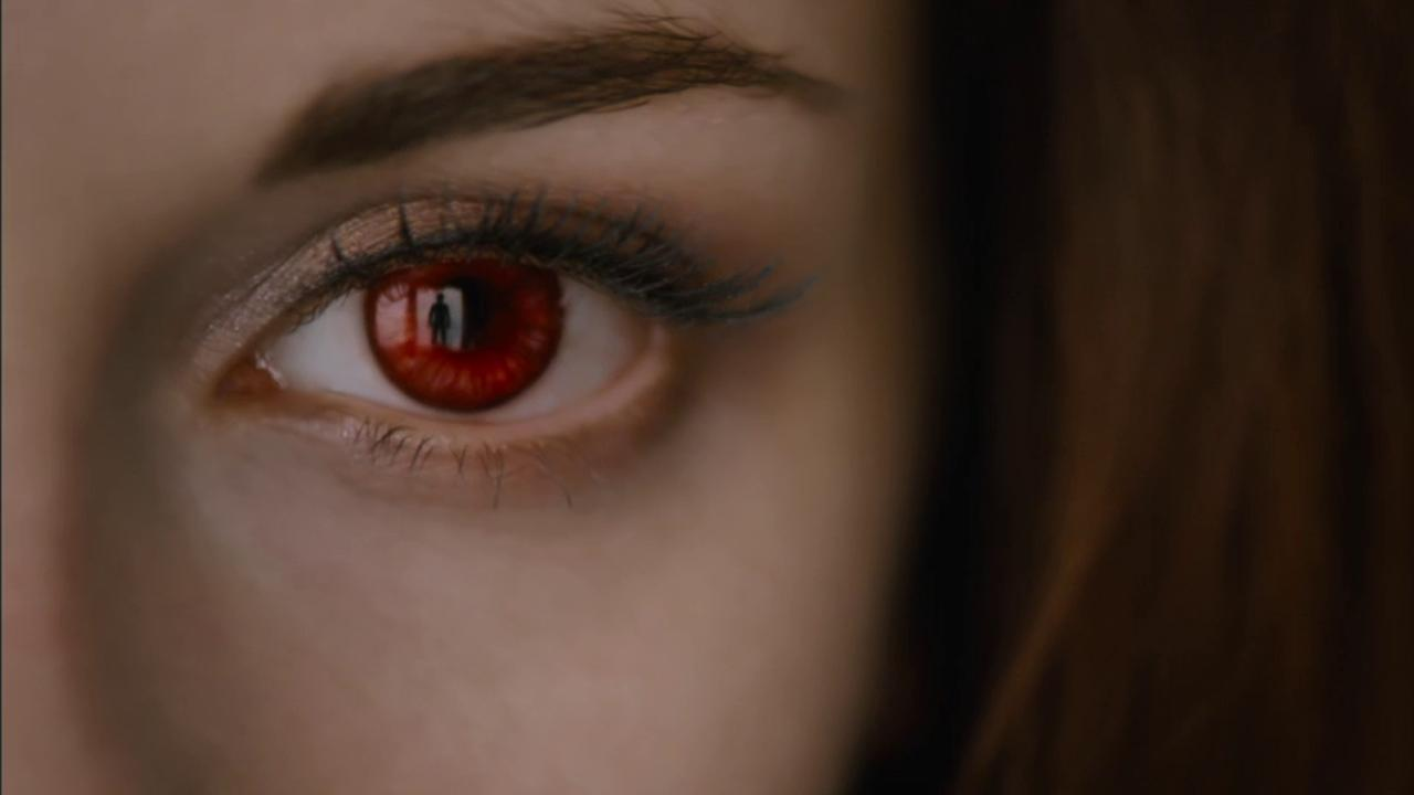 Bella, now a vampire, (played by Kristen Stewart) appears in a scene from the 2012 movie The Twilight Saga: Breaking Dawn - Part 2.Summit Entertainment