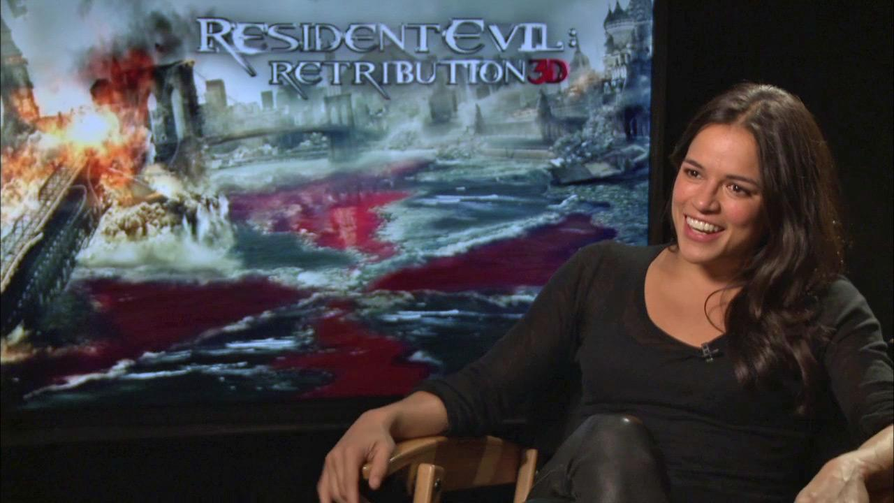 Michelle Rodriguez talks about Resident Evil: Retribution in an interview provided by Screen Gems.