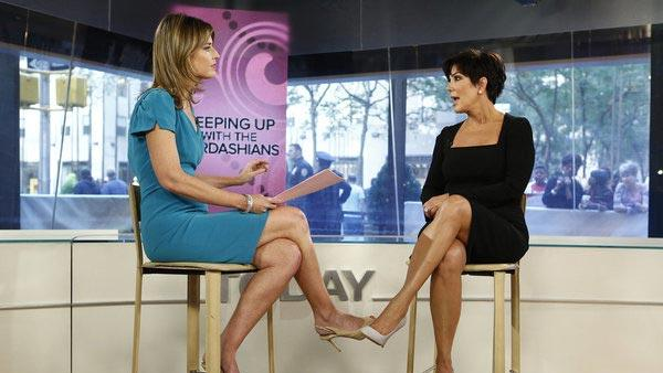 Savannah Guthrie and Kris Jenner appear on NBC News Today on September 11, 2012. - Provided courtesy of Peter Kramer/NBC