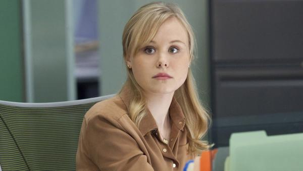 Alison Pill appears in a promotional photo for The Newsroom season 1 in 2012. - Provided courtesy of Melissa Moseley/HBO
